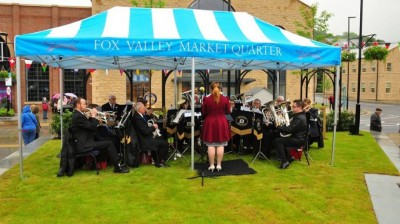 Deepcar Brass Band perform at Fox Valley