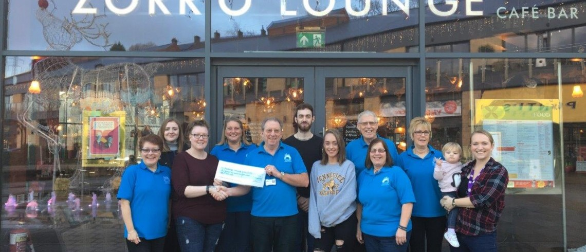 Zorro Lounge team boost local charity funds